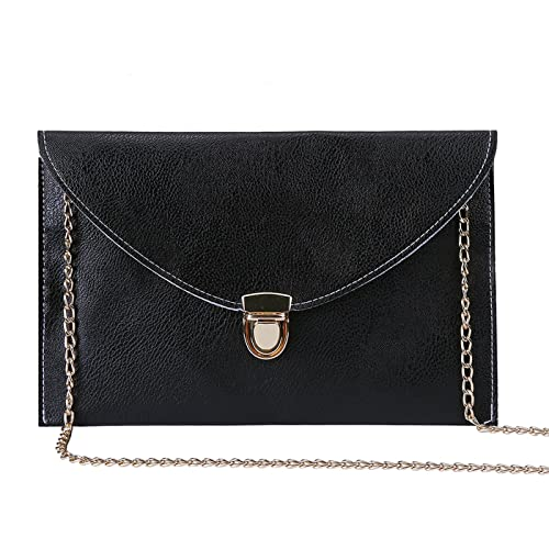 47411f3093a Image Unavailable. Image not available for. Color  HDE Women s Fashion  Cross Body Gold Buckle Purse Vegan Leather Envelope Handbag