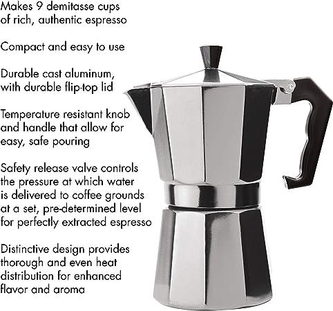 Epoca PES-3306 - Cafetera (Aluminio, Estufa, Aluminio, De café ...