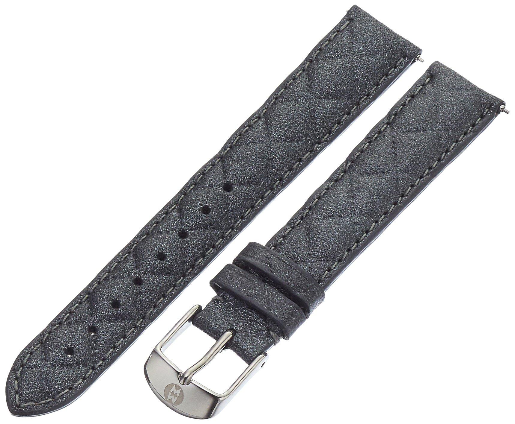 MICHELE MS16AA370494 16mm Leather Calfskin Blue Watch Strap