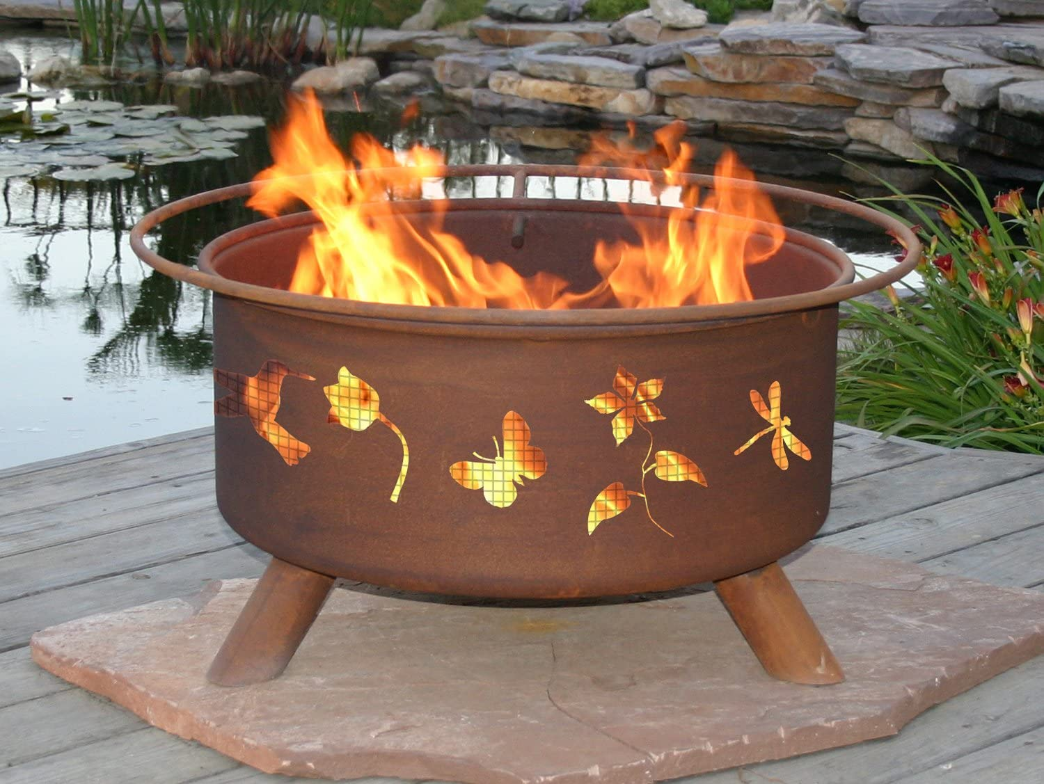 Patina Products F110, 30 Inch Flower Garden Fire Pit