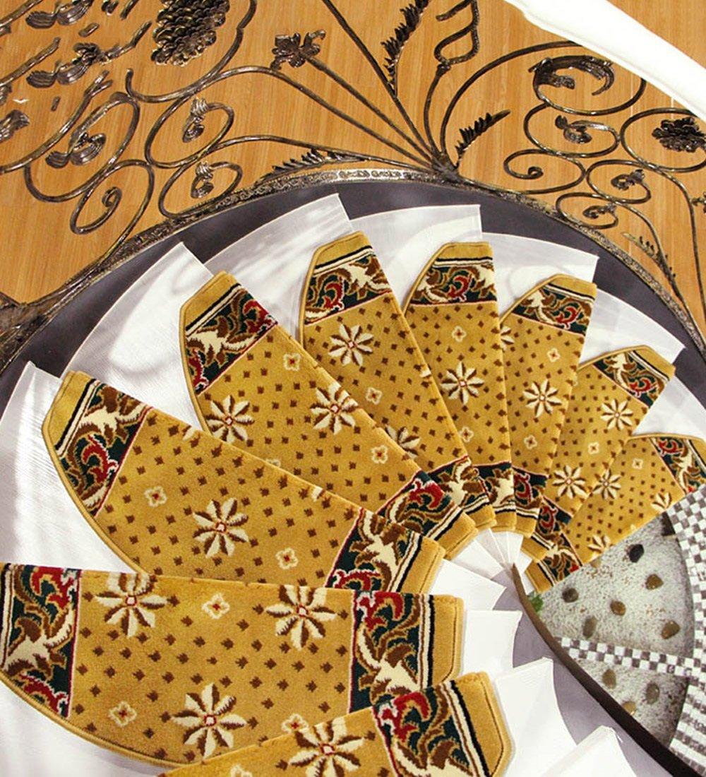 ZENGAI Selbstklebende Unterseite Treppe Stufenmatten 5er SparSet Hohe Dichte Rutschfest Steppmatte Treppen Teppich (Farbe   8 -5 Pieces, größe   75x(24+3) cm) B07F875TXT Stufenmatten