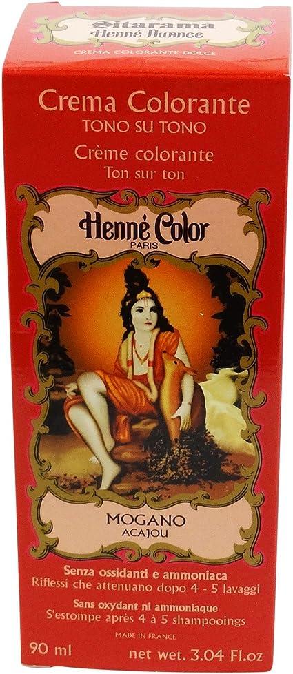 SITARAMA Tinte Vegetal Crema con Henna - ROJO FUEGO - Sin peróxido ni amoniaco - Sin colorantes sintéticos - Vegan