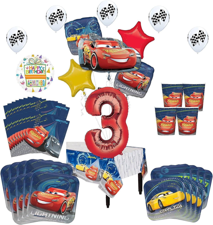 "Disney Pixar Cars /""3/"" 3rd Birthday Party Supplies"