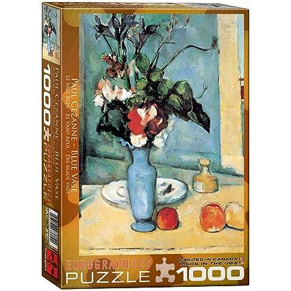Amazon Eurographics Blue Vase By Cezanne 1000 Piece Puzzle