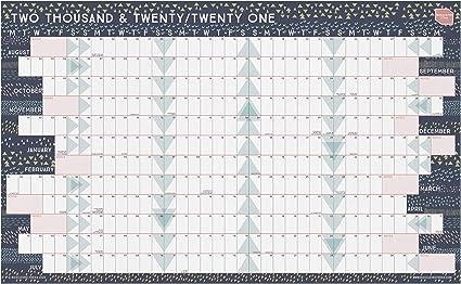 Calendario 2020 2021 Pared Acádemico de Boxclever Press. Planificador mensual para el Hogar o la Oficina. Calendario escolar 2020-2021 desde Agosto20 – Julio21. (Sin Laminar) (Lineal): Amazon.es: Oficina y papelería