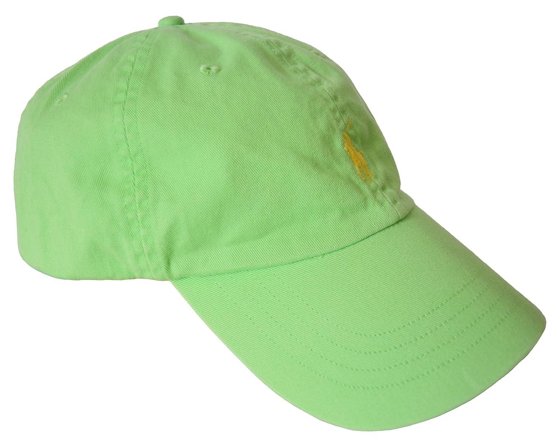 5ce363945ea Amazon.com  Polo Ralph Lauren Men Pony Logo Adjustable Sport Hat Cap (One  size