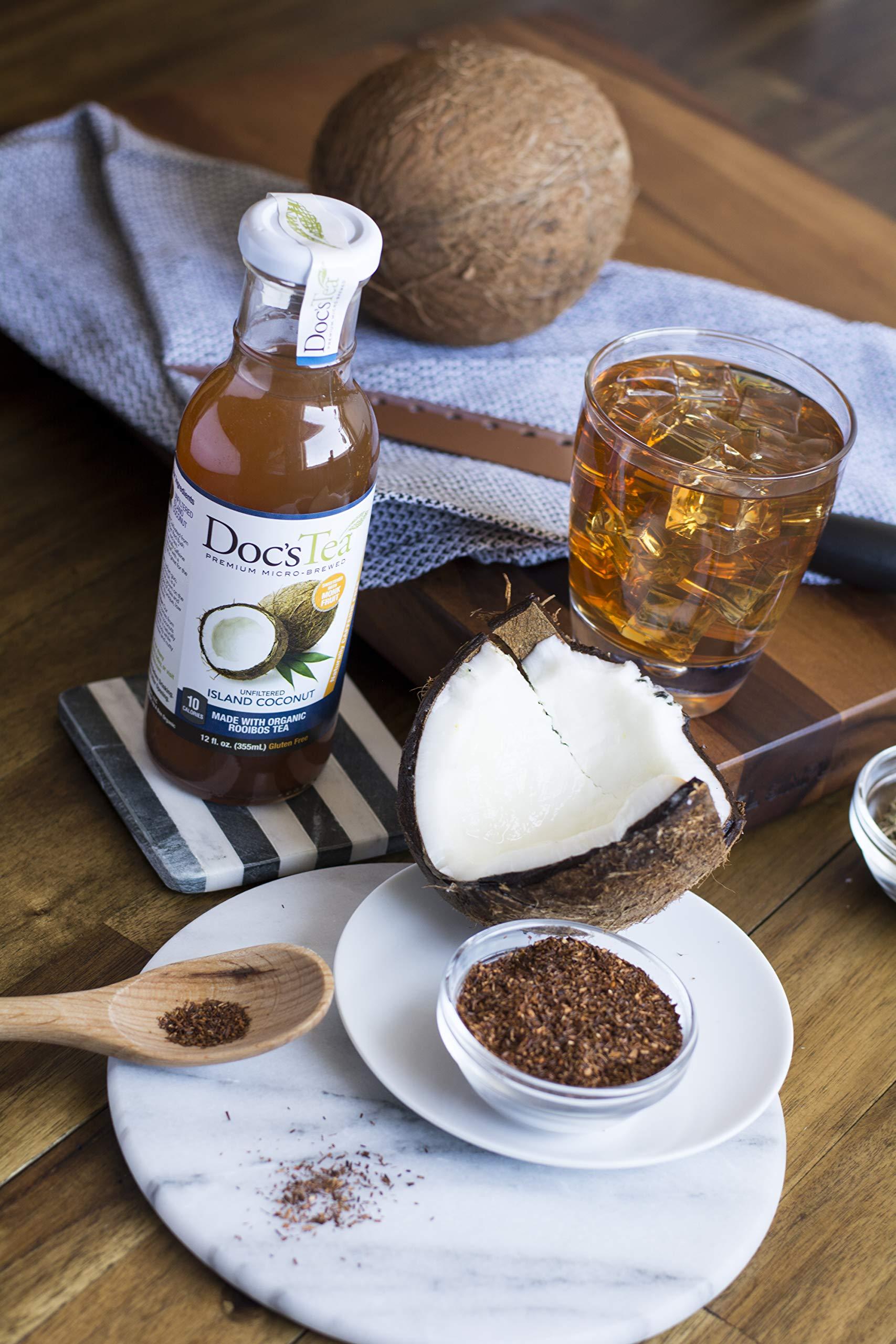 Doc's Tea Flavored Tea, Island Coconut, 12 Fluid Ounce (Pack of 12)