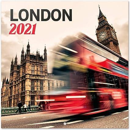 Erik® Calendrier Mural 2020 2021 Londres | 16 Mois, 30x30 cm | De