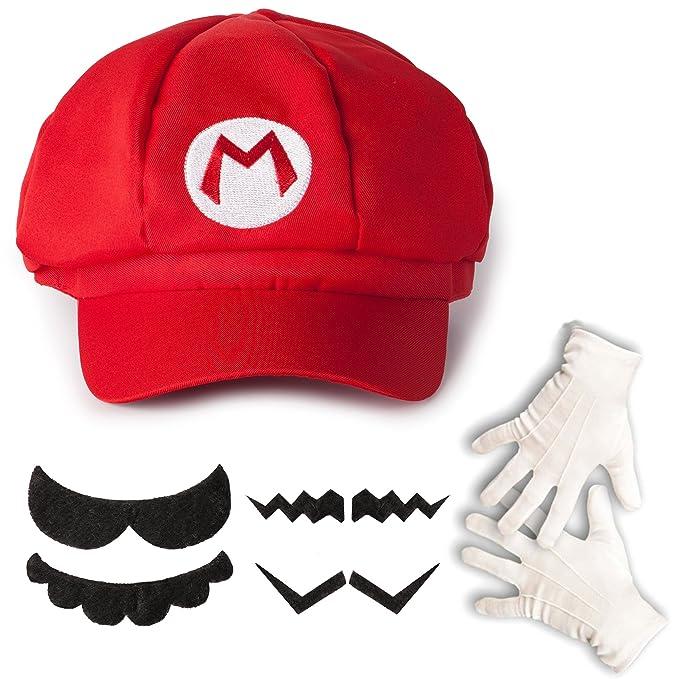 2 opinioni per Katara Set Travestimento Super Mario Nintendo Cappello Rosso con 6 Baffi Finti