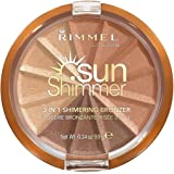 Rimmel London Sunshimmer 3 in 1 Shimmering Bronzer, 002 Bronze Goddess, 9.9g