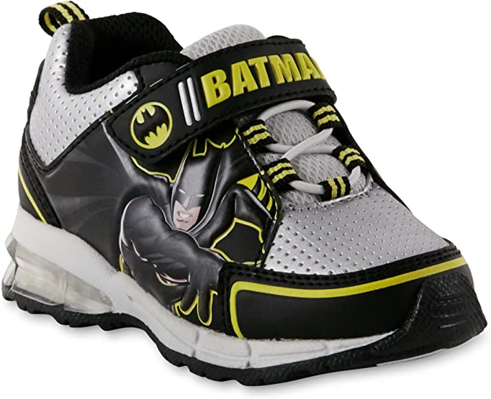 DC Comics Batman Toddler Boy/'s Atheltic Light Up Shoes Sneakers Black