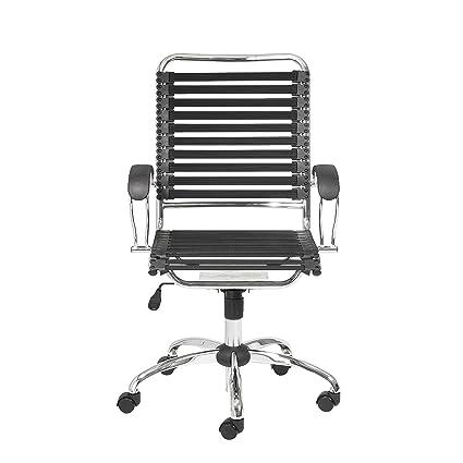 amazon com eurø style flat bungie high back adjustable office chair