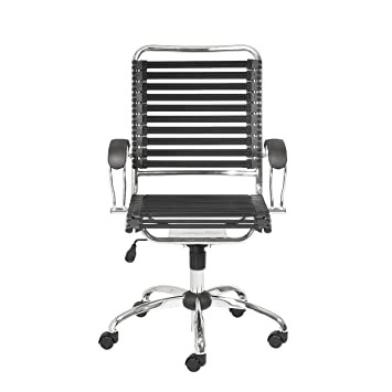 Amazoncom Eurø Style Flat Bungie High Back Adjustable Office Chair