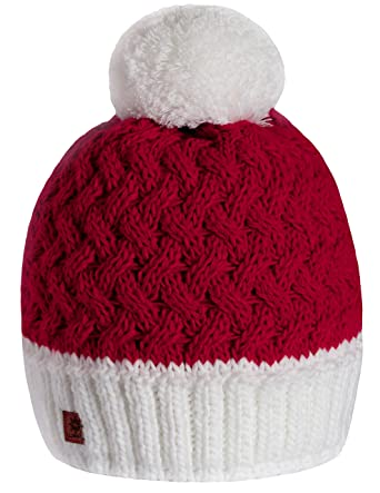 4sold Santa Hat Men Womens Girls Winter Hat Wool Knitted Beanie Fleece with  Large Pom Pom Cap Ski Snowboard Hats Bobble (Red White)  Amazon.co.uk   Clothing f66585e6e770