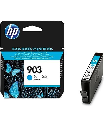 HP T6L87AE 903 Cartucho de Tinta Original, 1 unidad, cian
