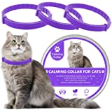 Wustentre 3 Pack Calming Collar for Cats, Cat Calming Collars, Natural Cat Pheromones Calming Collar, Adjustable Cat Anxiety