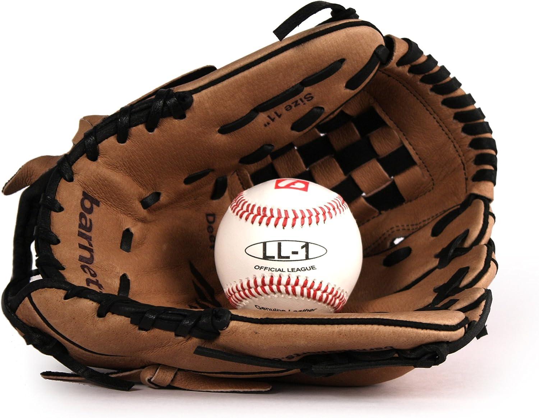 barnett GBSL-3 Kit de béisbol guante de cuero, pelota junior (SL ...