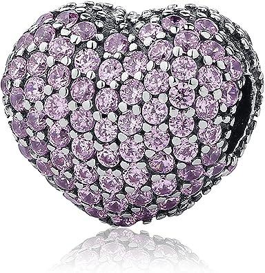 Pav ¨ ¦ ouvrir Mon Cœur Rose CZ Clip Argent sterling 925 Pour ...