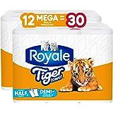 Royale Tiger Strong Paper Towel, 12 Mega equal 30 Rolls, 138 Handy Half Sheet Rolls