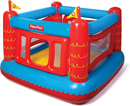 Amazon Com Fisher Price Bouncetastic Inflatable Bouncer Toys Games