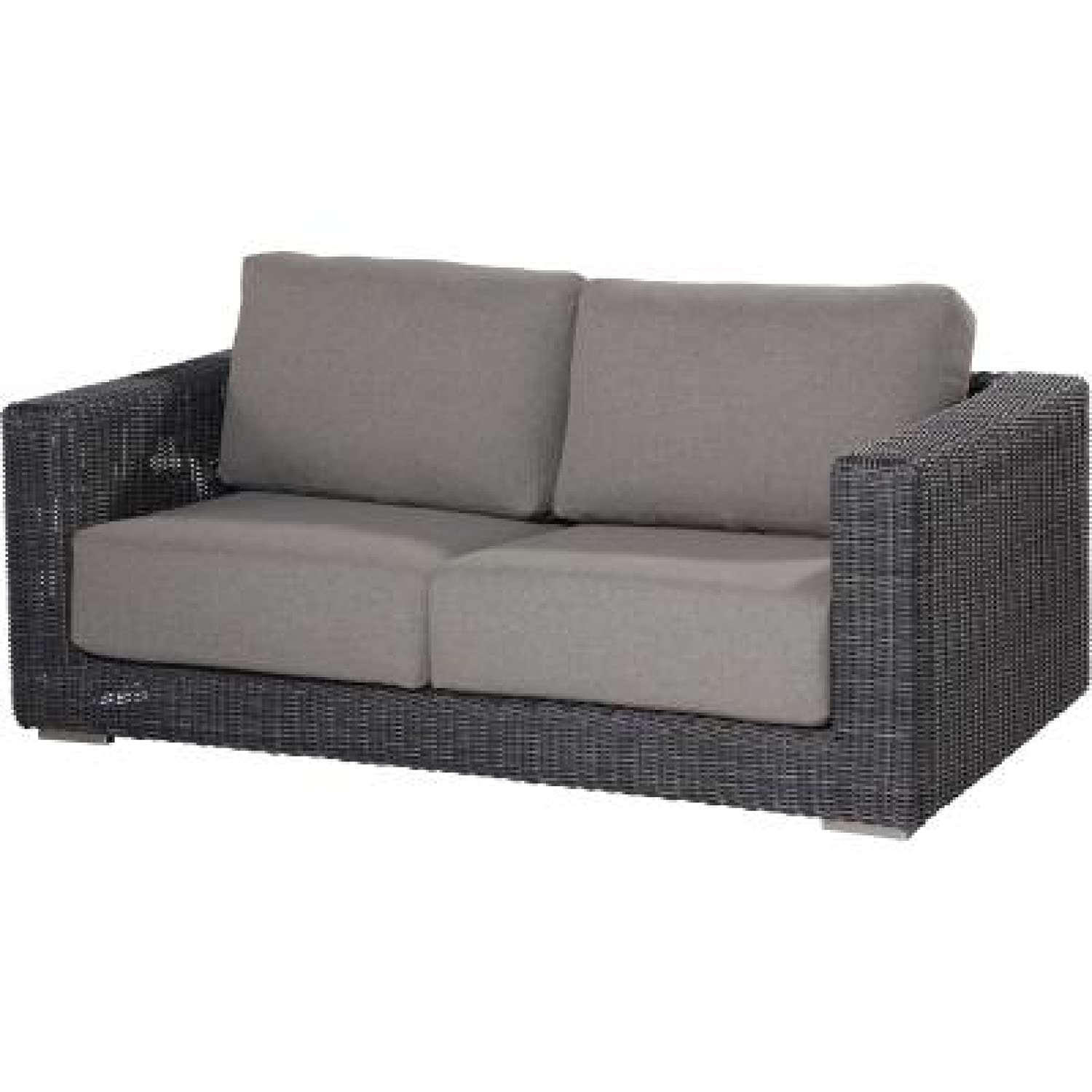 4Seasons Outdoor Somerset Sofa 2,5-Sitzer Loungesofa Polyrattan charcoal wicker