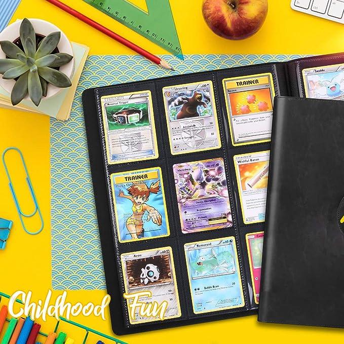 Amarillo Cpano Card Holder Book Estuche para Pokemon Trading Carsd Carpeta de /álbum de Titular Compatible con 22 p/áginas Premium de 18 Bolsillos Tiene Capacidad para hasta 396 Tarjetas