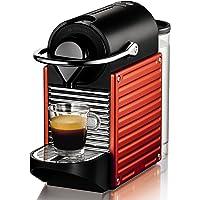 Nespresso Krups Pixie XN 3006-Cafetera de cápsulas, 19 bares, ergonómica, inteligente, apagado automático, color rojo