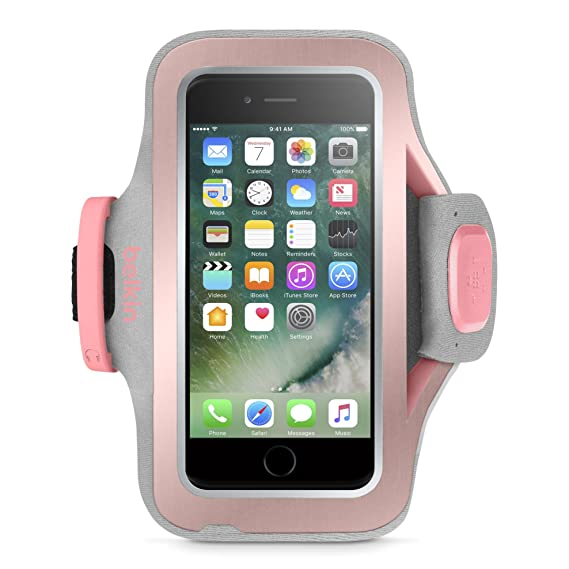 separation shoes 352ce 4d6ef Belkin Sport-Fit Pro Armband for iPhone 7 Plus and iPhone 8 Plus (Rose Gold)