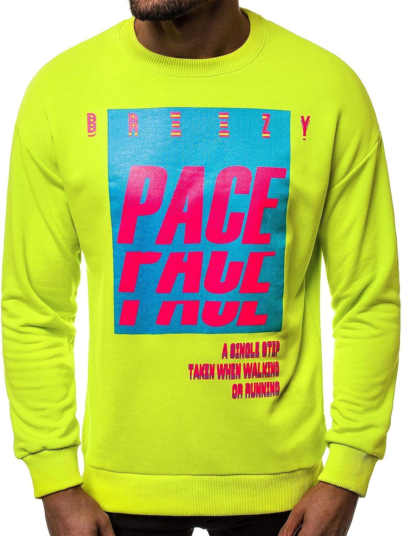 OZONEE Herren Sweatshirt Pullover Classic Basic Rundhals-Ausschnitt JS/DD256