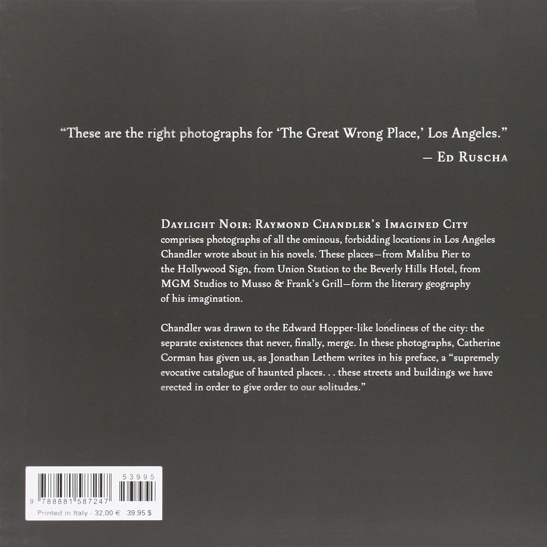 Daylight Noir: Raymond Chandler's Imagined City: Catherine Corman, Jonathan  Lethem: 9788881587247: Amazon: Books