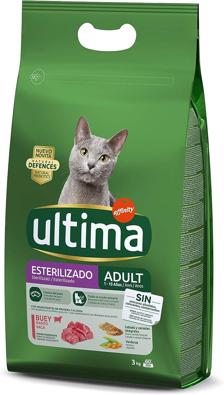Ultima Pienso para Gatos Esterilizados Adulto con Buey - 3 kg