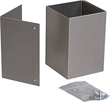 6x6 Rust Free Adjustable Trimmer Guard For Mailbox Post Protection Amazon Com