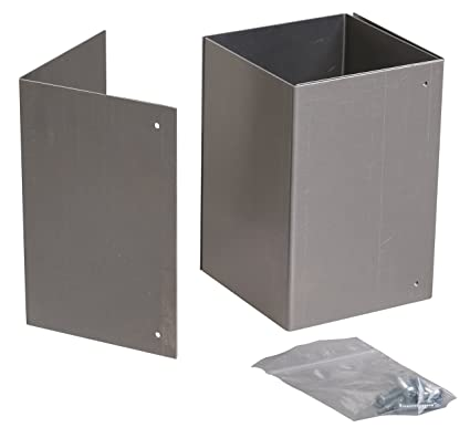 6x6 Mailbox Post Aluminum Trimmer Guard: USA made, Rust-free solution to  protect posts