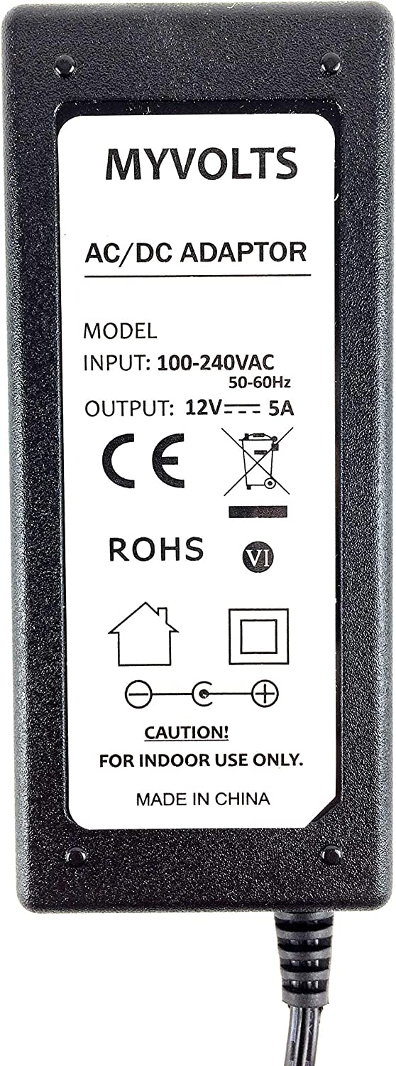 MyVolts 12V Power Supply Adaptor Compatible with Smart Podium SP518 Display US Plug
