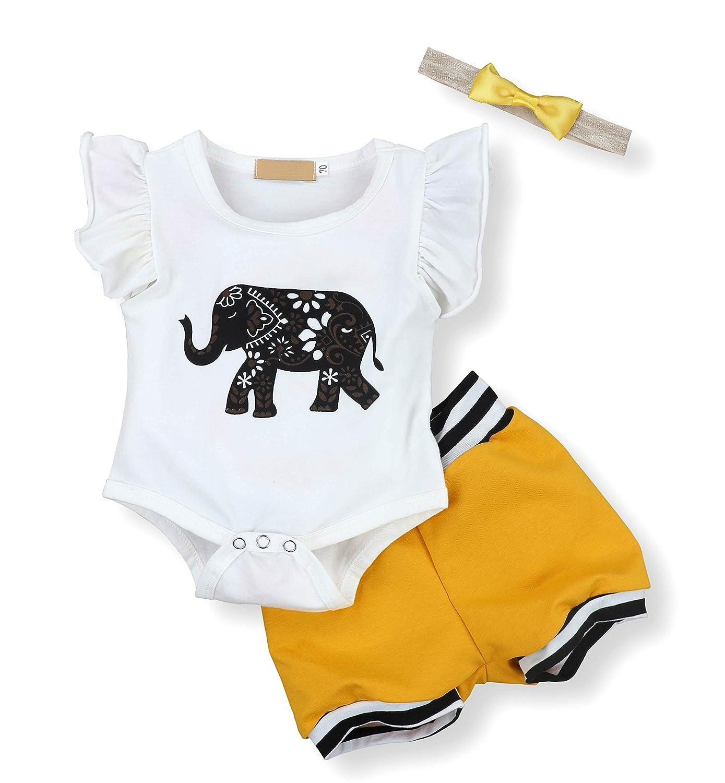 Amazon Seyouag Infant Baby Boy Girl Elephant Romper and Short