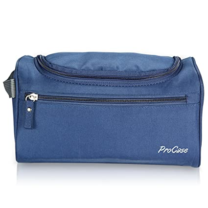 8a94b36554f1 Amazon.com   ProCase Toiletry Bag Travel Case with Hanging Hook ...