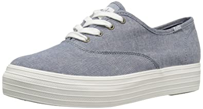 Keds Women's Triple Canvas Fashion Sneaker,Dark Blue,5 ...