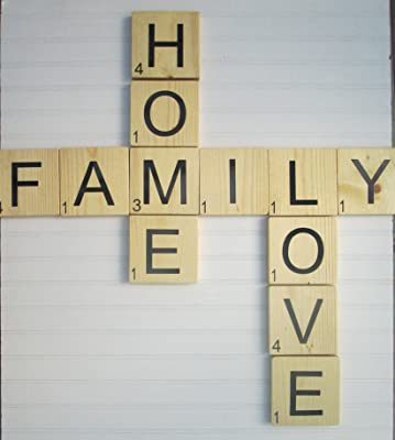 Large Scrabble Type Tiles Set,