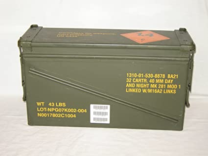 amazon com surplus ammo cans 40mm sports outdoors