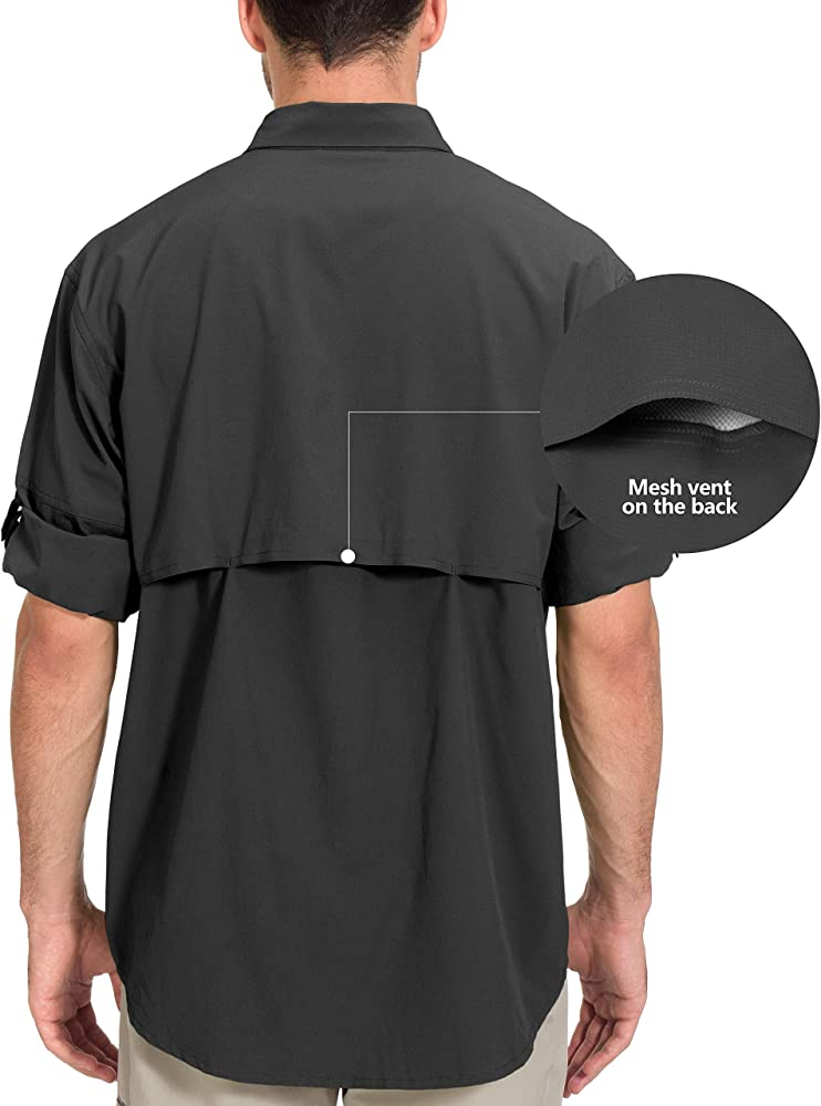 Camping Little Donkey Andy Mens Stretch Quick Dry UPF50 Travel Long Sleeve Shirt for Hiking