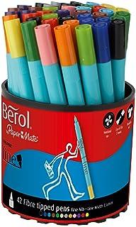 Berol Colour Fine Fibre Tipped Pen with 0.6 mm Line Width - Assorted  Colours, Pack