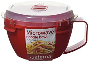 Sistema Microwave Collection Noodle Bowl, 31.7 oz./0.9 L, Red (1109ZS)