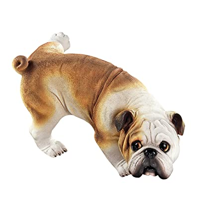 Design Toscano Dog Gone Bad Peeing Bulldog Statue QL6324 : Outdoor Statues : Garden & Outdoor