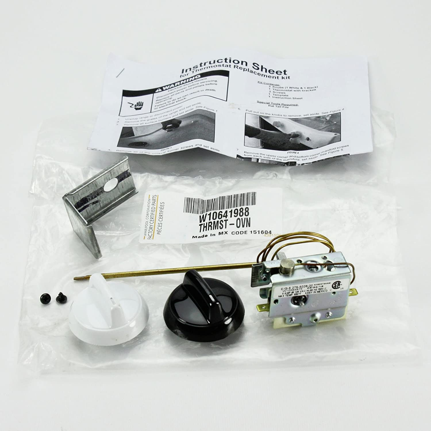 Whirlpool W10641988 Range Oven Control Thermostat Genuine Original Equipment Manufacturer (OEM) Part