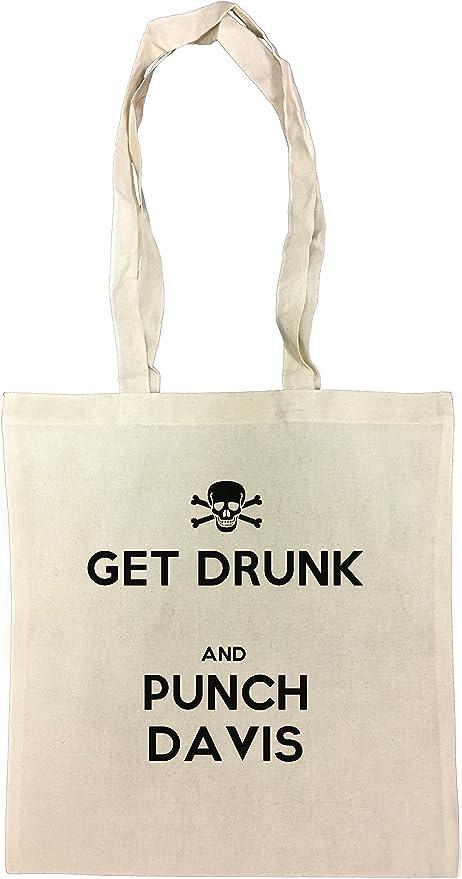 Get Drunk And Punch Davis Bolsa De Compras Playa De Algodón ...