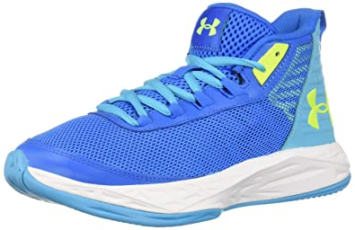 new concept c1f32 585d1 Under Armour Girls  Grade School Jet 2018 Basketball Shoe Blue Circuit  (400)