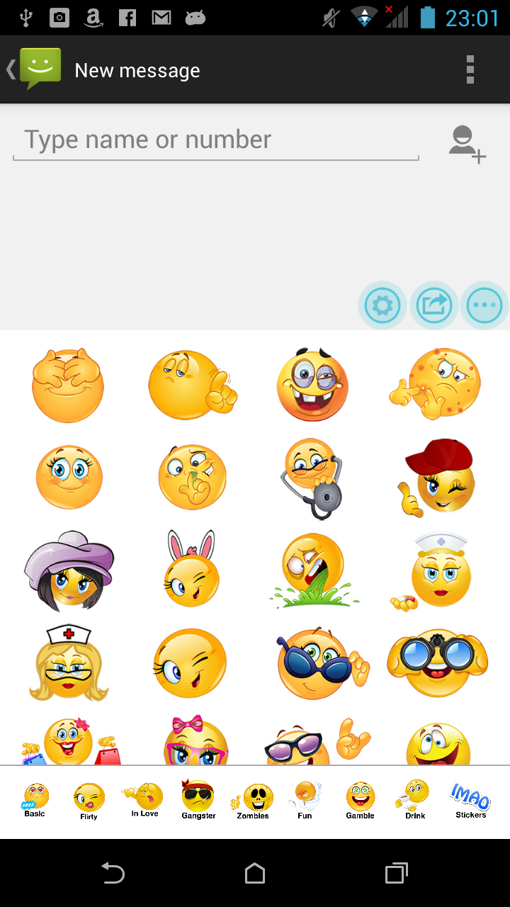 flirty emoticons for android