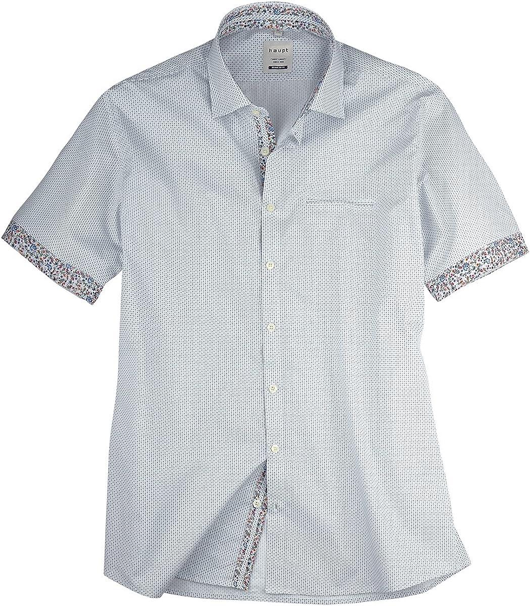 Haupt Camisa Manga Corta Blanca Estampada en Talla XXL, 2xl-8xl:4XL: Amazon.es: Ropa y accesorios