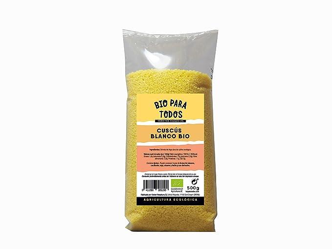 Bio para todos Cuscus Blanco - 10 Paquetes de 500 gr - Total: 5000 gr