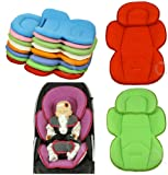 OLO BABY Infant Snuzzler Head Hugger & Full Body Support Liner for Car Seat Buggy Pushchair (baby pink)